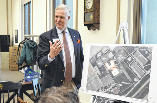Great Oaks President and CEO Harry Snyder is enthusiastic about a construction and renovation project at Laurel Oaks Career Campus.