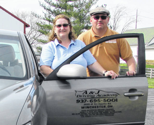 April is Distracted Driving Awareness Month and Angie and Jimmy Luti, owner/operators of A & J Driving Academy in Winchester, advise all drivers young and old to put the phone down when behind the wheel of a car.