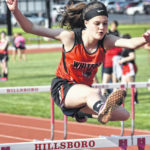 Hillsboro girls Track and Field wins home
