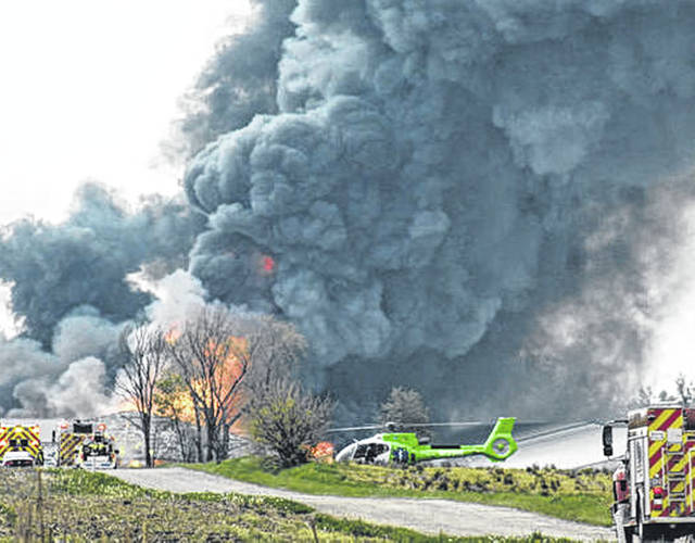 For the second time in less than a year, fire destroyed a hog barn at the Straathof Swine Farm facility in Fayette County on Tuesday afternoon. Responders from all over the county answered the call for assistance and multiple fire trucks rolled onto the scene within just a few minutes of the initial call.