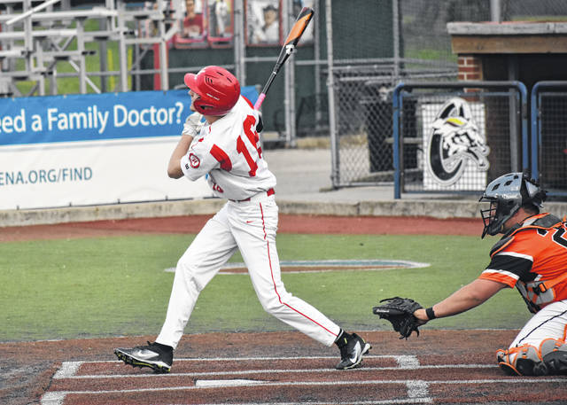In this Times-Gazette file photo from the Little Hearts, Big Smiles Baseball Classic held Saturday, April 13, at VA Memorial Stadium in Chillcothe, Hillsboro's Dylan Boone takes a swing against Wilmington.