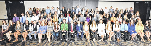 Students honored at the 30th annual Franklin B. Walter All-Scholastic Awards Program in Columbus are shown in this picture.