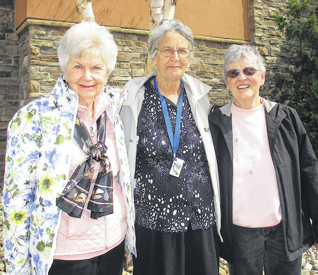The Laurels of Hillsboro honored its most active volunteers during National Volunteer Week to lunch at LongHorn Steakhouse. Honored were Doris Randolph, who provides art activities; Carol Harless, a longtime volunteer of 17 years that is involved in helping in activities and various other departments; and Cathy Sader for playing the guitar and singing to the residents. Pictured, from left, are Randolph, Harless and Sader.
