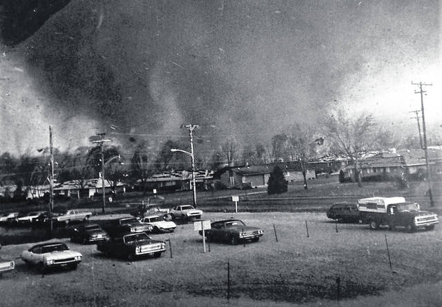 On the afternoon of April 3, 1974, this F-5 tornado ripped a path of death and destruction through Xenia, Ohio, killing 33 people and injuring more than 1,300 others. The day has come to be known by meterologists as The Great Outbreak of 1974.