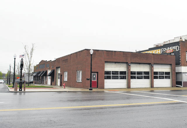 Shown is the old Hillsboro fire station at North High Street and Governor Trimble Place uptown.