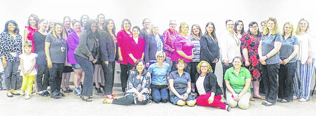 Some of those that participated in the fourth annual Dress for Success event hosted by Highland County Community Action's OhioMeansJobs are shown in this picture.