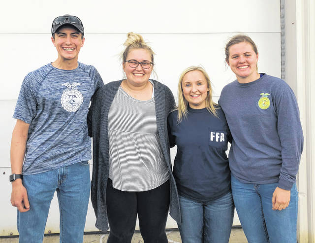 The Fairfield FFA floriculture team placed 16th out of 27 teams at the Floriculture CDE at Ohio State ATI in Wooster on April 23. The team had to identify different plants and names as well diseases, insects, florist tools and arrangement styles. The team consisted of Kohler Bartley, Alexis Tompkins, Paige Teeters and Bre Flint. Pictured, from left, are Bartley, Flint, Tompkins and Teeters.
