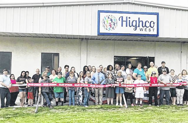 Highco Inc. employees and other dignitaries are pictured this week during a ribbon-cutting ceremony for the new Highco West location.