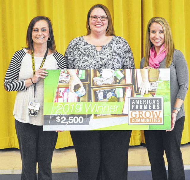 Pictured, from left, are Christy Roberts, Ready Fest coordinator; Angela Godby, principal; and Heather Carraher, Ready Fest coordinator.