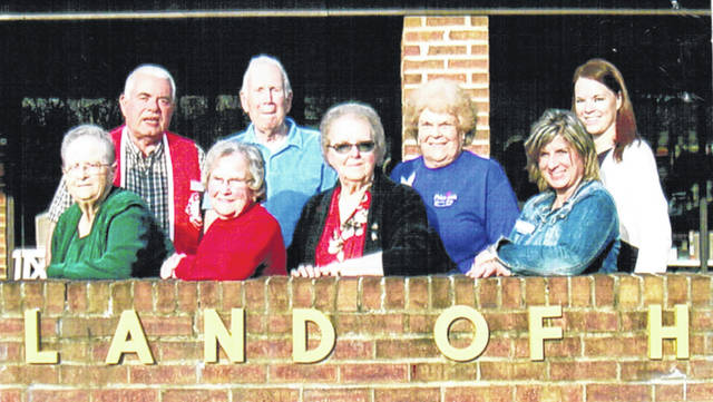 Several members of the Lynchburg Lions Club visited the Heartland Nursing Center recently. Following a dinner provided by the center the group heard a program about nursing home services. They also discussed financing plans and various types of resident care. The hosts were Kimberly Morrison, Heartland administrator, and Amy Harper, admissions director. Both ladies gave presentations and the Lions thanked them for their hospitality. The Lions also discussed numerous items of business and made two special additional donations to KAMP Dovetail. The Lynchburg Lions have now donated to more than 25 community organizations and special projects this year. The donations were made possible because of the Lions Club Candy Sale and pancake breakfasts. Pictured, from left, are Lions Joyce Stroop, Jim Faust, Virginia Rhonemus, Bob Roth, Maxie Green and Janet Florence, Harper and Morrison.