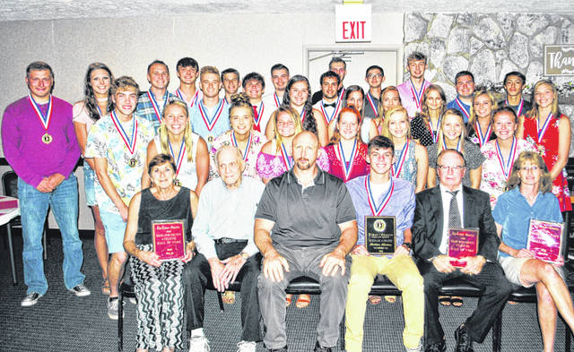 Last year's Times-Gazette Highland County Scholar-Athlete of the Year nominees that showed up for the annual dinner/banquet are pictured, along with the hall of fame inductees and some of their family members, at the Ponderosa Banquet Center in Hillsboro. This year's banquet will take place at the same location at 6 p.m. Thursday, June 13.