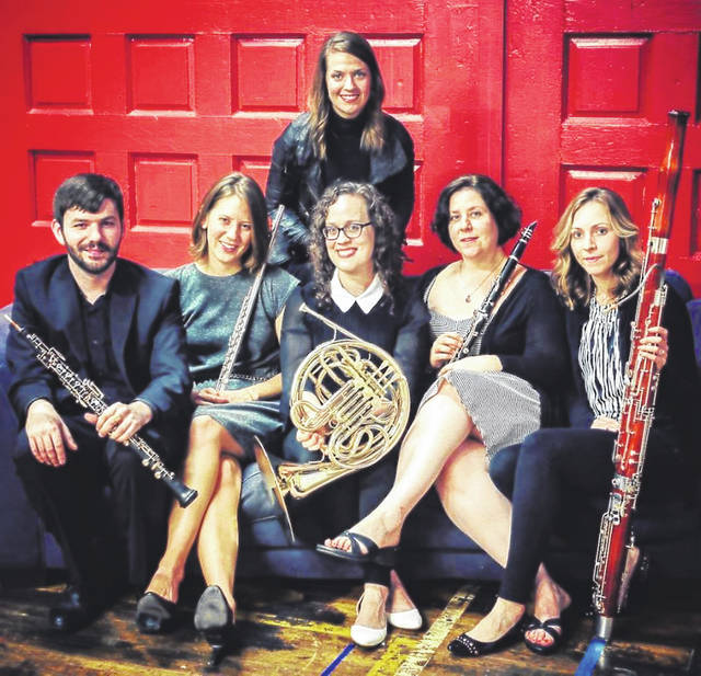 The members of Wayside Winds are shown in this photograph. They will perform June 9 at St. Mary's Episcopal Church in Hillsboro.