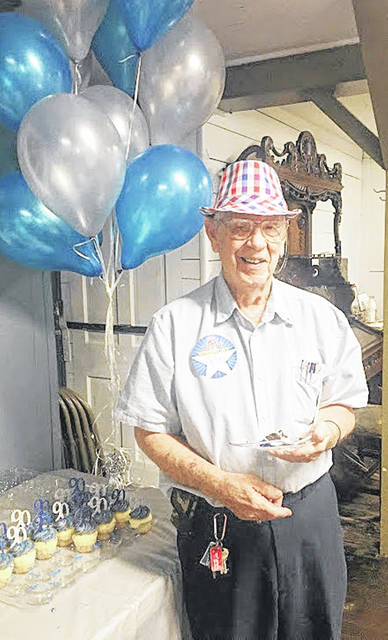Greenfield resident Bob Ravenscraft is pictured at his 90th birthday party.