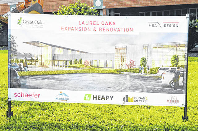 At the groundbreaking and launch, organizers displayed a conceptual design of what the exterior of Laurel Oaks facilities will look like upon completion of the renovation.
