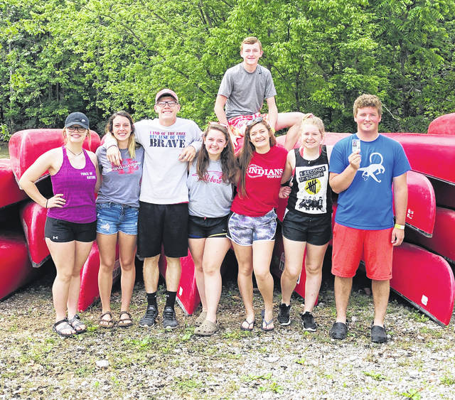 Pictured, from left, are (top) Lawton Parry; (bottom, l-r) Kelcie Thornburgh, Zinny Adams, Scottie Eastes, Jaiden Hughes, Alora Brown, Katie Craig and Joe Helterbrand.