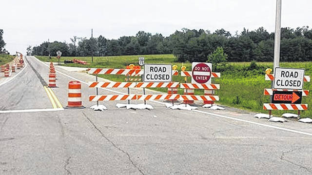 Restrictions are in place on both SR 73 and Portsmouth Road in Adams County, where SR 73 is closed at SR 32 to all eastbound traffic and Portsmouth Road, which is being used as the detour for SR 73 East motorists, is closed to all westbound traffic.