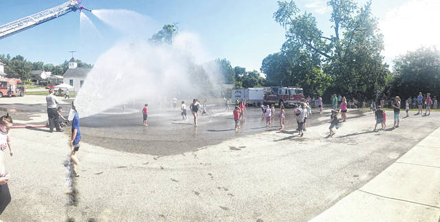 The Paint Creek Joint EMS/Fire District hosted a Water Day from 11 a.m. to 1 p.m. Friday at its Hillsboro location. The Hillsboro City Schools Tomahawk Food Truck was also on-site for the occasion. Lt. Branden Jackman said Paint Creek plans to host one to two more Water Days in Hillsboro this summer and a couple in Greenfield.