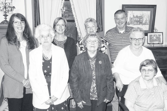 The 2019 Highland County First Family inductees included (front row, l-r) Naomi Jean (Gall) Wallis, committee chair; Mary Ann Webb VanTress, Ruth Ellen Walls Malyuk, and Linda Lou Walls; (back row, l-r) Elizabeth Wallis Biggs, Betty Jo Fite Ratliff, Donna Allyn Roush Fite, and Russell Wayne Fite.