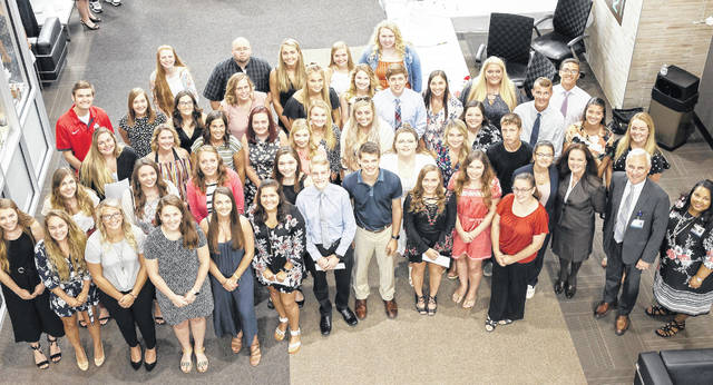Students that received a total of $111,300 in 2019-20 Adena Health Foundation Scholarships are shown in this picture.