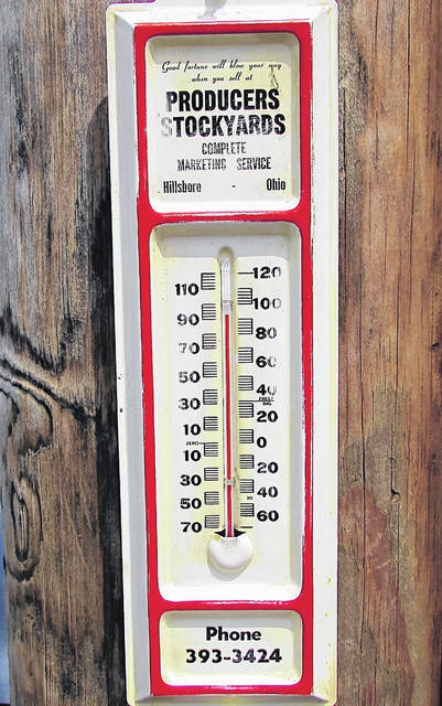 This old thermometer is likely to get a workout the next few days with high temperatures expected to top 90 degrees Friday, Saturday and Sunday.
