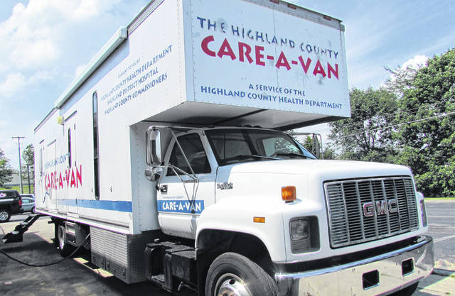 The Highland County Health Department's Care-A-Van will be out 'n about in the community in the coming weeks, helping parents check off getting their kids immunized against childhood diseases from their back-to-school list.