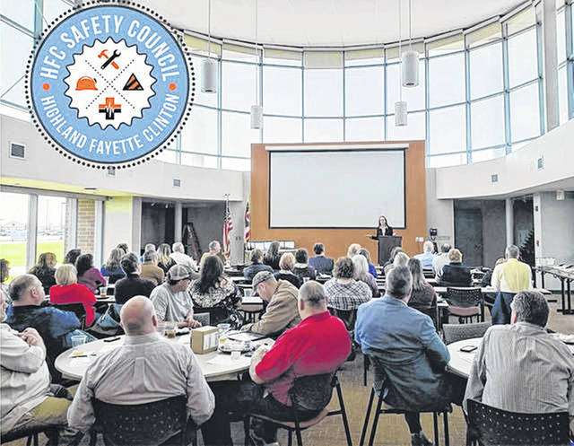 Participants are pictured at a recent Highland-Fayette-Clinton Safety Council meeting.