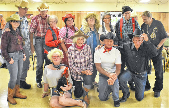 "The cast of the annual ""Hee Haw"" show, which went on Saturday night at the Highland County Senior Citizens Center in Hillsboro. Center director Mechell Frost said the annual production is a tradition dating back to the 1970s."