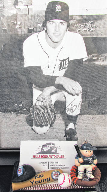 Whiteoak High School product Kip Young is pictured during his playing days with the Detroit Tigers.