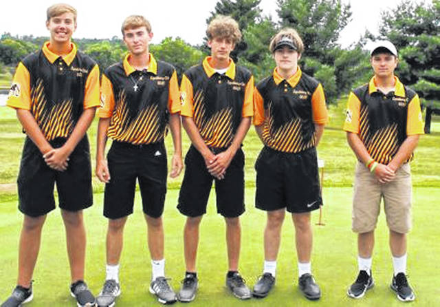 The 2019 Lynchburg-Clay boys golf team is pictured above.