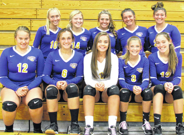 The 2019 McClain High School volleyball team is shown in this picture.