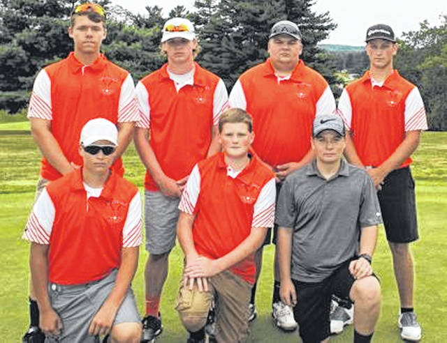 Pitctured is the 2019 Whiteoak Wildcat varsity boys golf team.
