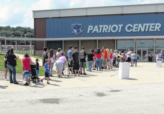 The lines were crowded both Wednesday and Thursday for the Back-to-School event at Southern State Community College's Patriot Center.