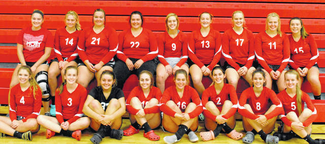 The 2019 Fairfield Lady Lion volleyball team is shown in this picture.