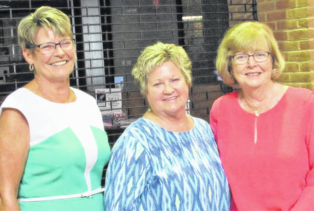 Mary Stanforth, Sue Boatman and Jane Tissot, shown left to right, were the 2019 honorees inducted into the Highland County Women's Hall of Fame Tuesday evening. The dinner ceremony was held in the atrium of Southern State Community College's Central Campus in Hillsboro.