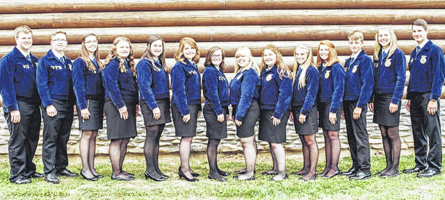Members of the McClain FFA Chapter officer team are shown in the photograph.