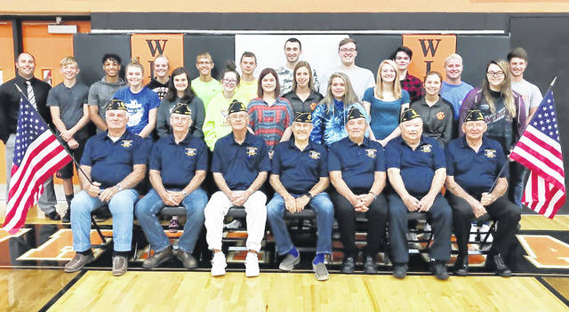 On Monday, American Legion Post 694 presented American flags to the Whiteoak Jr./Sr. High School. The flags will be used for the daily Pledge of Allegiance to kick start the day. The school said it is thankful for the donation from Post Commander Chuck Emery and the local American Legion.