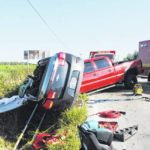 One flown from scene of three-vehicle crash