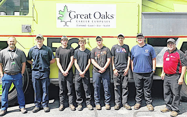 Students in Gary Bronson's class are Laurel Oaks are pictured, from left, Jack Wessel, Miguel Barnes, Aaron Saylor, Austin Fox, Wes Cordy, Matt Roush, David Foley and Bronson.