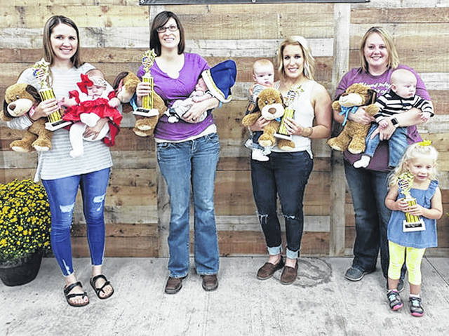 The Cutie Pie Contest winners from Category A are pictured in this photo, from left, third place girl, Chevelle Chaney; first place girl, Autumn Lee; first place boy, Brantley Kniceley; second place boy, Wylder Jett; third place boy, Alexander Lucas; and second place girl, Lyndi Scott (absent from photo).