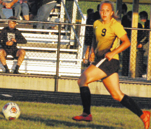 Karlie Tipton controlling the ball in the photo shown above