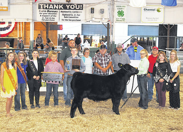 Blake Herdman's 2019 Outstanding Market Exhibitor Feeder Calf sold for $3.50 per pound Friday night at the Highland County Fair. It was purchase by: Arrick's Propane; Belles Farm Animal Veterinary Services; Bohrer Veterinary Services; CPS Construction; Jerry Crum Family; The Dickey Group Realtors; Frost Trucking & Excavation; Herdman's Pole Barns; Higgins Steel Roofing; James Tissandier Construction; Kibler Lumber - Wilmington; Lewis Financial Group; Parry Show CT; Stark Truss Inc.; Ventura Feed and Country Store; and Y-Not Cattle.