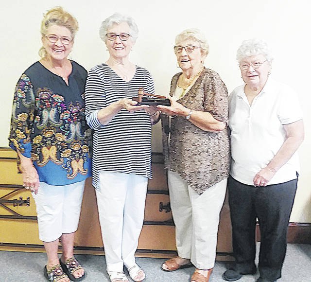 The Hillsboro Woman's Club met at the Masonic Lodge for its first meeting of the new club year. This year's club officers are Eleanor Williams, Pauline Cameron, Betty Ann Walker and Rosemary Ryan. The program was given by Susan Davis Thompson, who discussed her Soles for Students charity. Pictured (l-r) are the club officers: Walker, Williams, Cameron and Ryan.