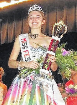 Kala Conn-Prose is shown after being crowned Miss Fall Festival of Leaves in 2006.