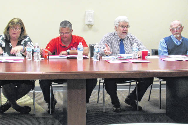From left, at Monday's roundtable forum are Julia Wise, executive director of Highland County Community Action; state Rep. Shane Wilkin; Bill Faith, executive director of the Coalition on Homelessness and Housing in Ohio; and Gregory Thirtyacre, president of NCJC Housing & Development Foundation.