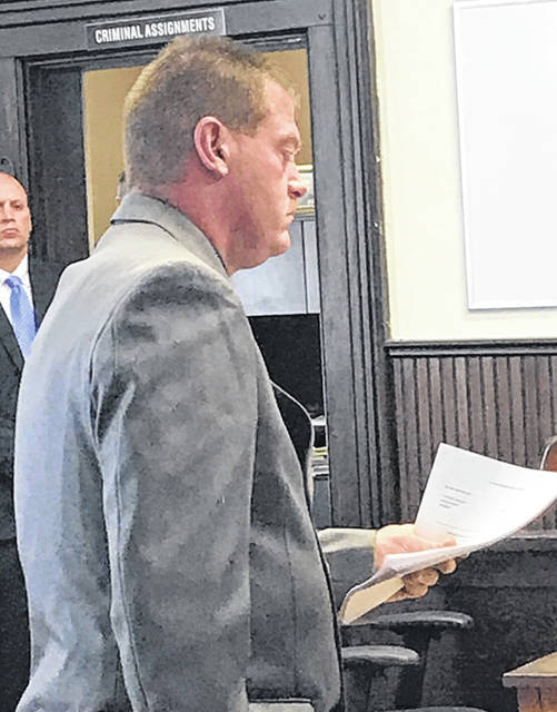 Suspended Pike County Sheriff Charles Reader is pictured during a court appearance regarding the criminal charges against him.