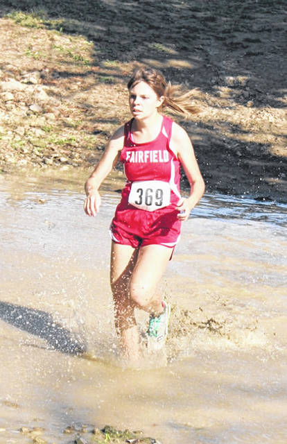 Ciara Colwell runs through the trenches in this picture.