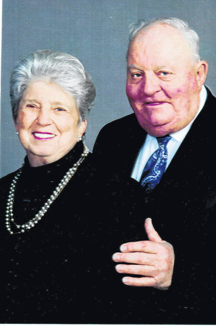 Harvey and Olive (Holbrook) Hoagland will celebrate their 60th wedding anniverary Oct. 24.