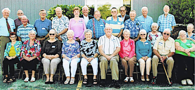 The Hillsboro High School class of 1969 recently celebrated its 60-year reunion at the Ponderosa Banquet Center. Twenty-five class members, along with their family and friends, enjoyed an evening of reminiscing. On the following morning several members met at Classics Diner for breakfast. Pictured are (front row, l-r) Kay Brown Payton, Jean Walker Coss, Joyce Moon Beatty, Ann Joseph Rehn, Mary Fenner Linn, Jim Ferrell, Barb Shafer Tira, Patty Moore Lindsey, Bob Garman and Judith Creek Helton; (middle row, l-r) Dick Staten, Dick Swisshelm, John Hull, Tom Snider, Margaret Sibrel Helfrich, Chuck Rapp, Harley Mains, Gary Hopkins, Marlene Scheibly Elliot and Joyce Stroop DeBord; (back row, l-r) Robert Morris, Tom Patridge, Davis McEwen, Meredith Chaney and Frank Hedges.