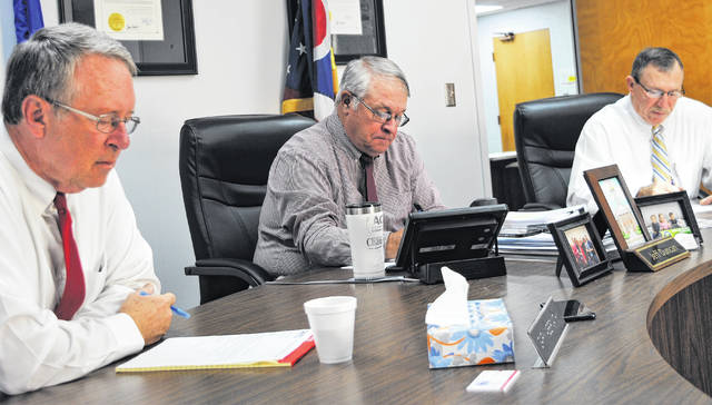 Highland County commissioners Gary Abernathy, Jeff Duncan and Terry Britton are pictured during Wednesday's regular meeting.