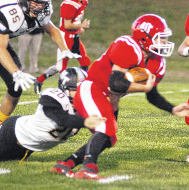 Mark Gallimore dragging Miami Trace behind him